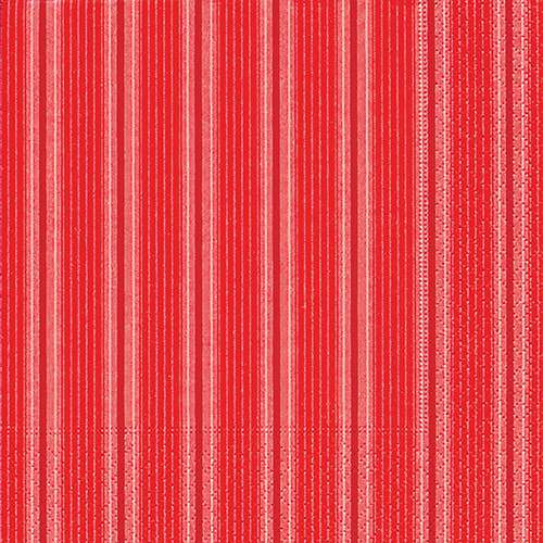 Partytischdecke.de | Servietten 25x25 Unique stripes red 20 Stück