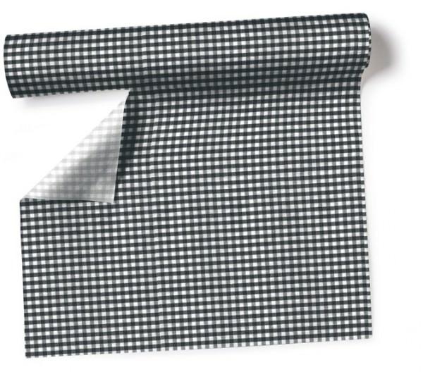 Partytischdecke.de | Tischläufer 40 cm x 3,60 m Vichy black