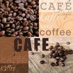 Partytischdecke.de | Servietten 33x33 Coffee Gallery 20 Stück