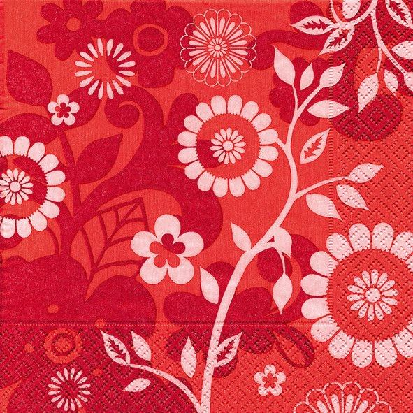 Partytischdecke.de | Servietten 33x33 Avignon rouge 20 Stück rot