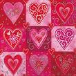 Partytischdecke.de | Servietten 33x33 Filigree hearts 20 Stück