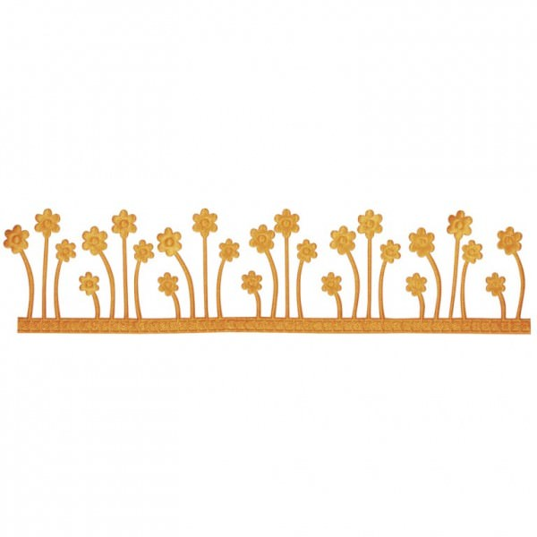 Partytischdecke.de | Dekoband Blumenwiese, selbstklebend maisgelb 4 cm x 2 m Rolle