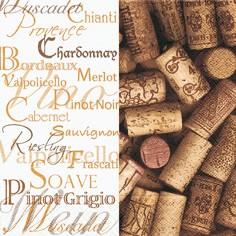 Partytischdecke.de   Servietten 33x33 Wine Tasting 20 Stück