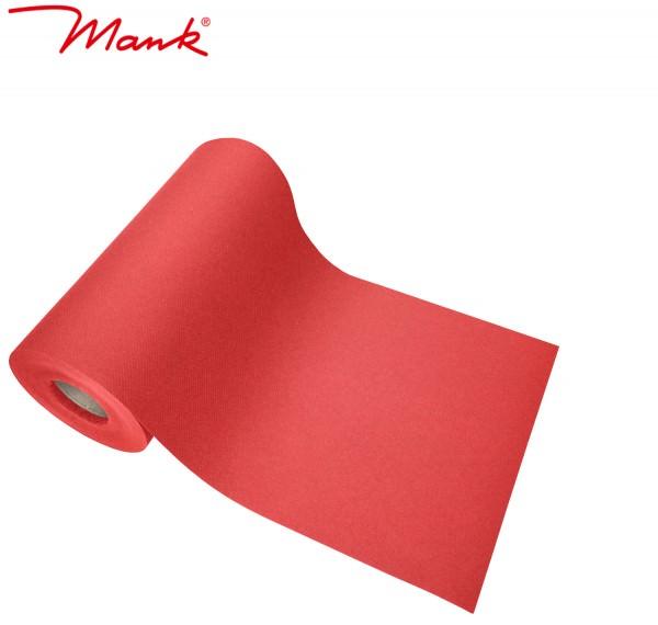 Partytischdecke.de | Tischband Mank Linclass 20 cm x 20 m rot