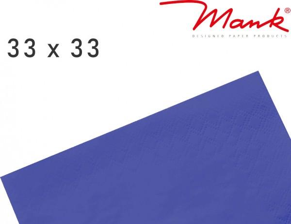 Partytischdecke.de | Serviette Mank 33x33 Tissue royalblau