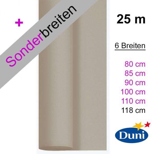 Partytischdecke.de | Tischdecke Duni Dunicel greige 25 m x Breite
