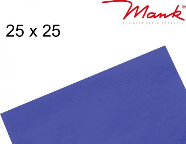 Partytischdecke.de | Serviette Mank 25x25 Tissue dunkelblau