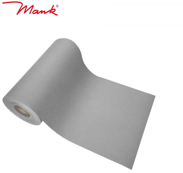 Partytischdecke.de | Tischband Mank Linclass 20 cm x 20 m grau