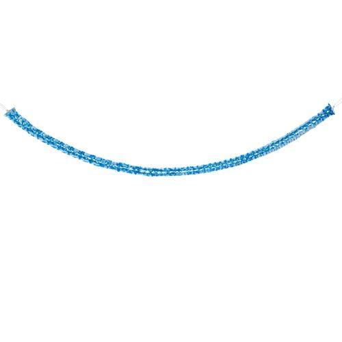 Partytischdecke.de   Girlande Ø 8 cm x 2 m Bayerisch Blau 2 Stück