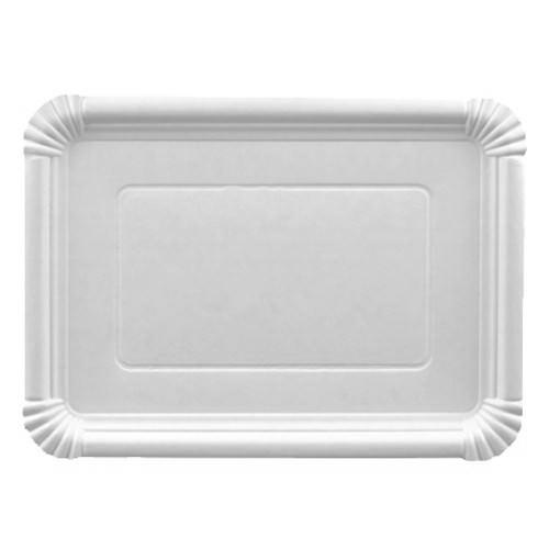 Partytischdecke.de | Pappteller eckig 21,5 cm x 29 cm weiss