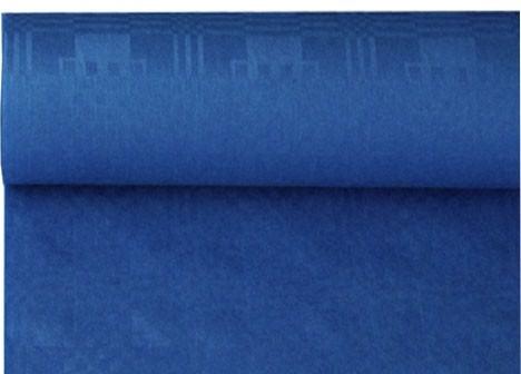 Papiertischdecke Damastprägung 1 m x 50 m dunkelblau