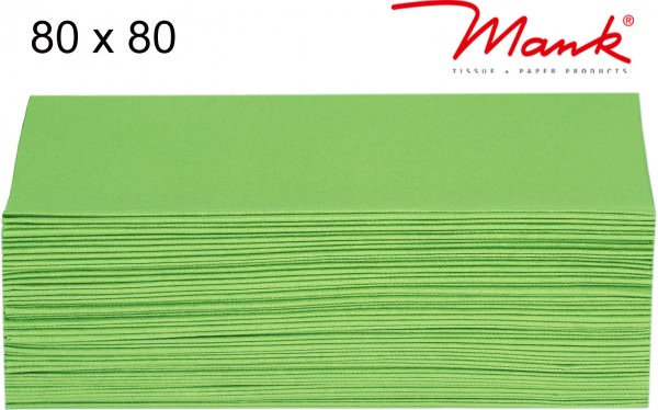 Partytischdecke.de | Mitteldecke 80 x 80 cm Mank Linclass apfelgrün