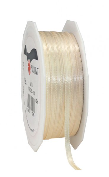 Partytischdecke.de | Satin Band 3 mm x 50 m ivory