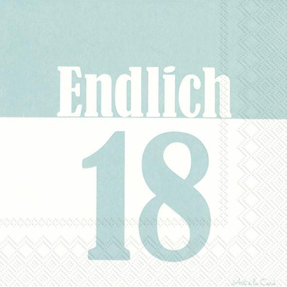 Partytischdecke.de | IHR Serviette 33x33 ENDLICH 18 türkis