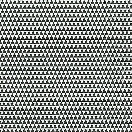 Servietten 33x33 Triangles allover Black 20 Stück