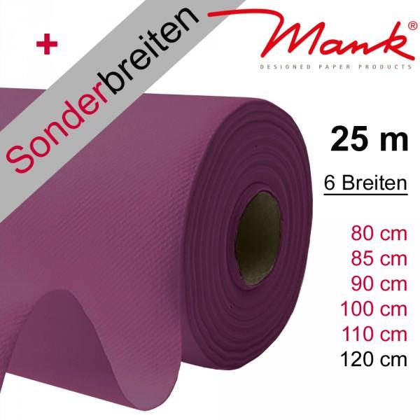 Partytischdecke.de | Tischdecke Mank Linclass auberine 25 m x Breite