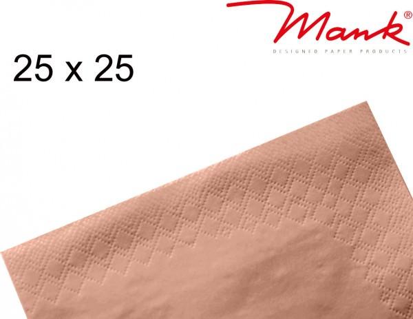 Partytischdecke.de | Serviette Mank 25x25 Tissue apricot