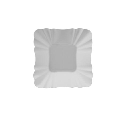 Partytischdecke.de | Pappschalen Pure eckig 9 x 9 x 3 cm weiss 250 Stück