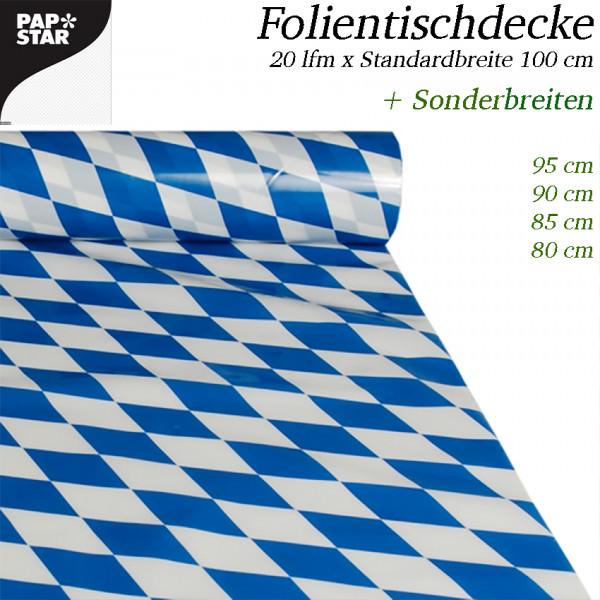 Partytischdecke.de | Folientischdecke bayerische 20 m Rolle x Breite
