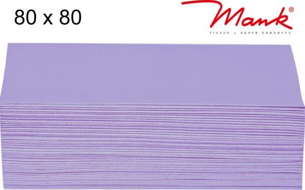 Partytischdecke.de | Mitteldecke 80 x 80 cm Mank Linclass flieder
