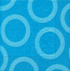 Partytischdecke.de | Servietten 33x33 Circle aqua 20 Stück