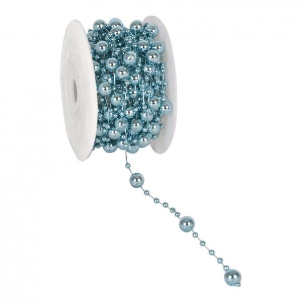 Partytischdecke.de | Perlenband 8 mm x 10 m türkis metalic