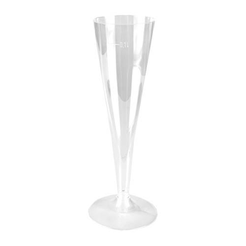Partytischdecke.de | Stiel-Gläser für Sekt, transparent 100 ccm 5er Pack