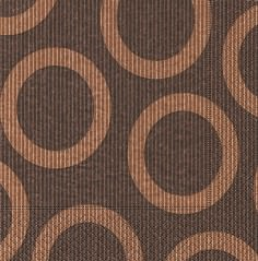 Partytischdecke.de | Servietten 40x40 Circle brown 20 Stück