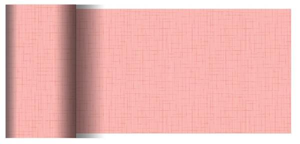 Partytischdecke.de | Tischläufer 15 cm x 20 m Dunicel Linnea mellow rose