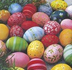 Partytischdecke.de | Servietten 33x33 Colourful Eggs 20 Stück