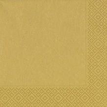 Partytischdecke.de | Duni Zelltuch Serviette 33x33 Gold 50 Stk