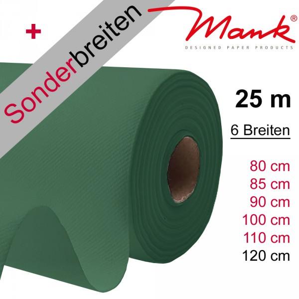 Partytischdecke.de | Tischdecke Mank Linclass dunkelgrün 25 m x Breite