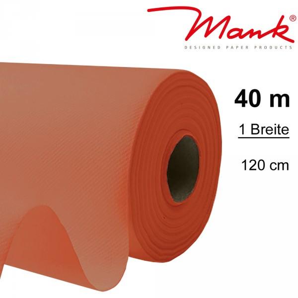 Partytischdecke.de | Tischdecke Mank Linclass 1,20 x 40 m terracotta