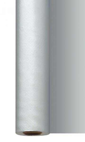 Partytischdecke.de | Tischdecke 1,18 m x 25 m Dunisilk silber