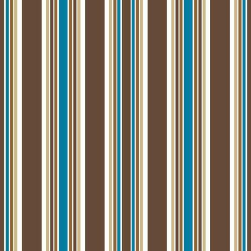 Partytischdecke.de | Serviette 33x33 | Stripes braun | 30 Stück