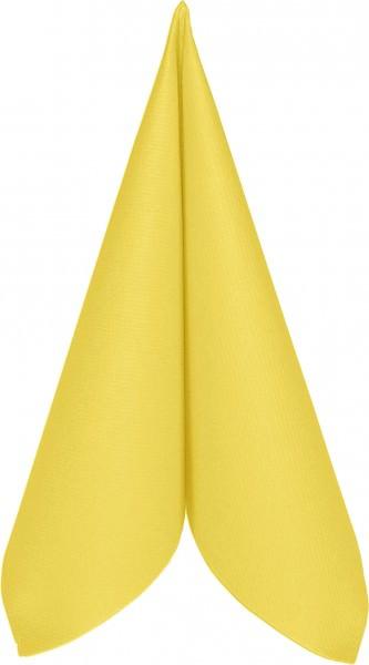 Partytischdecke.de | Serviette Mank Linclass 25x25 gelb 50 Stück