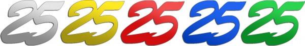 Partytischdecke.de | Jubiläumszahlen | 25 | Bunt 25 g