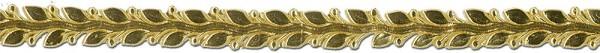 Verzierwachsstreifen Blätterborte 25 cm x 12 mm gold 1 Stück