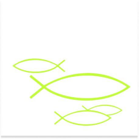 Partytischdecke.de   IHR Serviette 25x25 PEACEFUL FISH light green