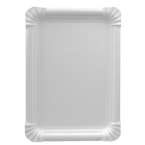 Partytischdecke.de | Pappteller eckig 16,5 cm x 23 cm weiss 25 Stück
