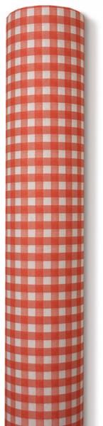 Partytischdecke.de | Tischdecke Airlaid 0,8 x 10 m karo rot