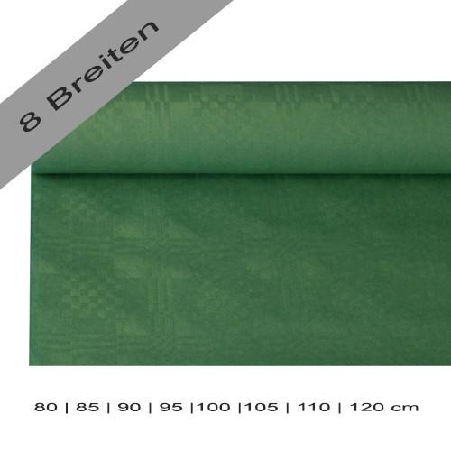 Partytischdecke.de | Papiertischdecke Damastprägung 8 lfm dunkelgrün