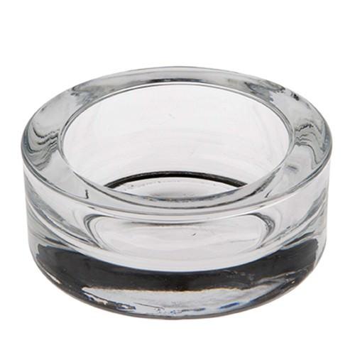Partytischdecke.de | Kerzenhalter, Glas  Ø 8,3 x 3,9 cm für Maxi-Teelicht 1 Stück