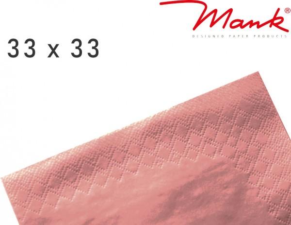 Partytischdecke.de | Serviette Mank 33x33 Tissue bronze