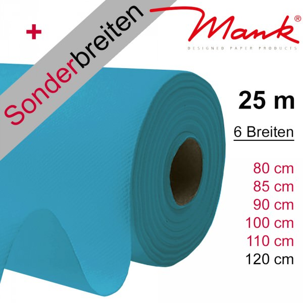 Partytischdecke.de | Tischdecke Mank Linclass aqua blau 25 m x Breite