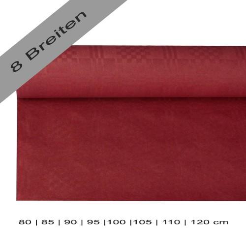 Partytischdecke.de | Papiertischdecke Damastprägung 8 lfm bordeaux