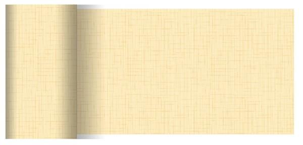Partytischdecke.de | Tischläufer 15 cm x 20 m Dunicel Linnea cream