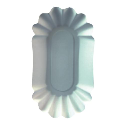 Partytischdecke.de | Pappschalen Pure oval 10,5x20x3,5 cm weiss 250 Stück