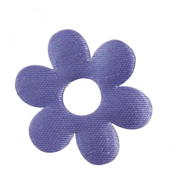 Satin Deko Blume Ø 3 cm lila 24 Stück