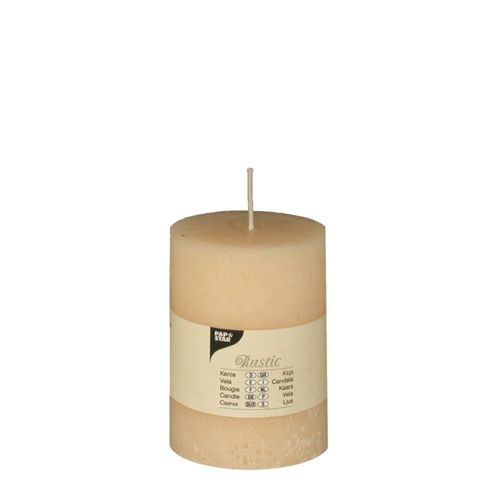 Partytischdecke.de | Rustik Kerze creme Ø 7 cm x Höhe